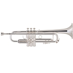 Bach Stradivarius LR180S37 Trumpet, Silver Plated, Reverse Leadpipe