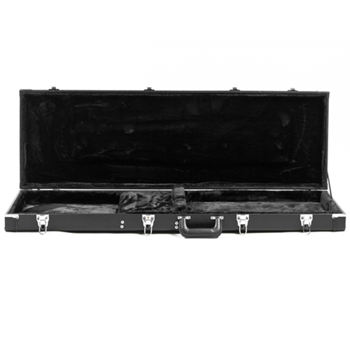 New Guardian Deluxe 335 Style Hollow Body Electric Guitar Hardshell Case Black