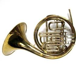 Used E Kruspe - Wendler Model Compensating Double French Horn